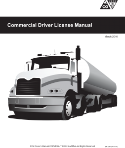 a black and white image of the front page of the Colorado Commercial Drivers License manual