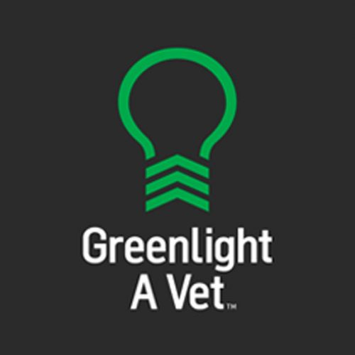 An image of the green lightbulb, the logo for the Greenlight A Vet campaign.