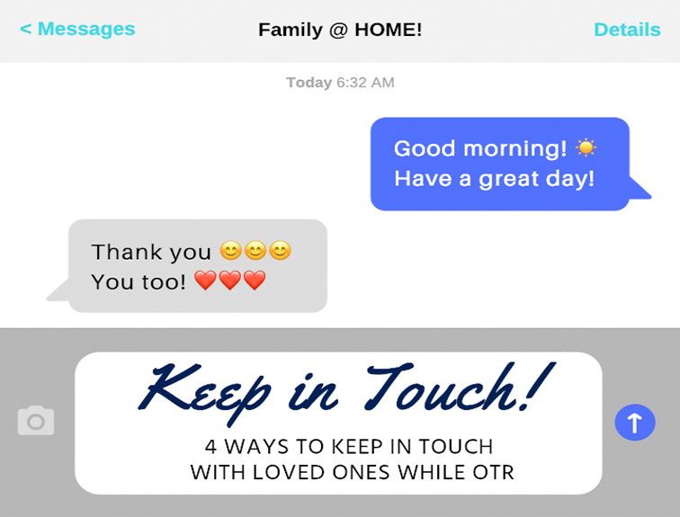 text conversation with family at home