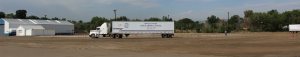 Image of white semi on United States Truck Driving School training range in Colorado Springs